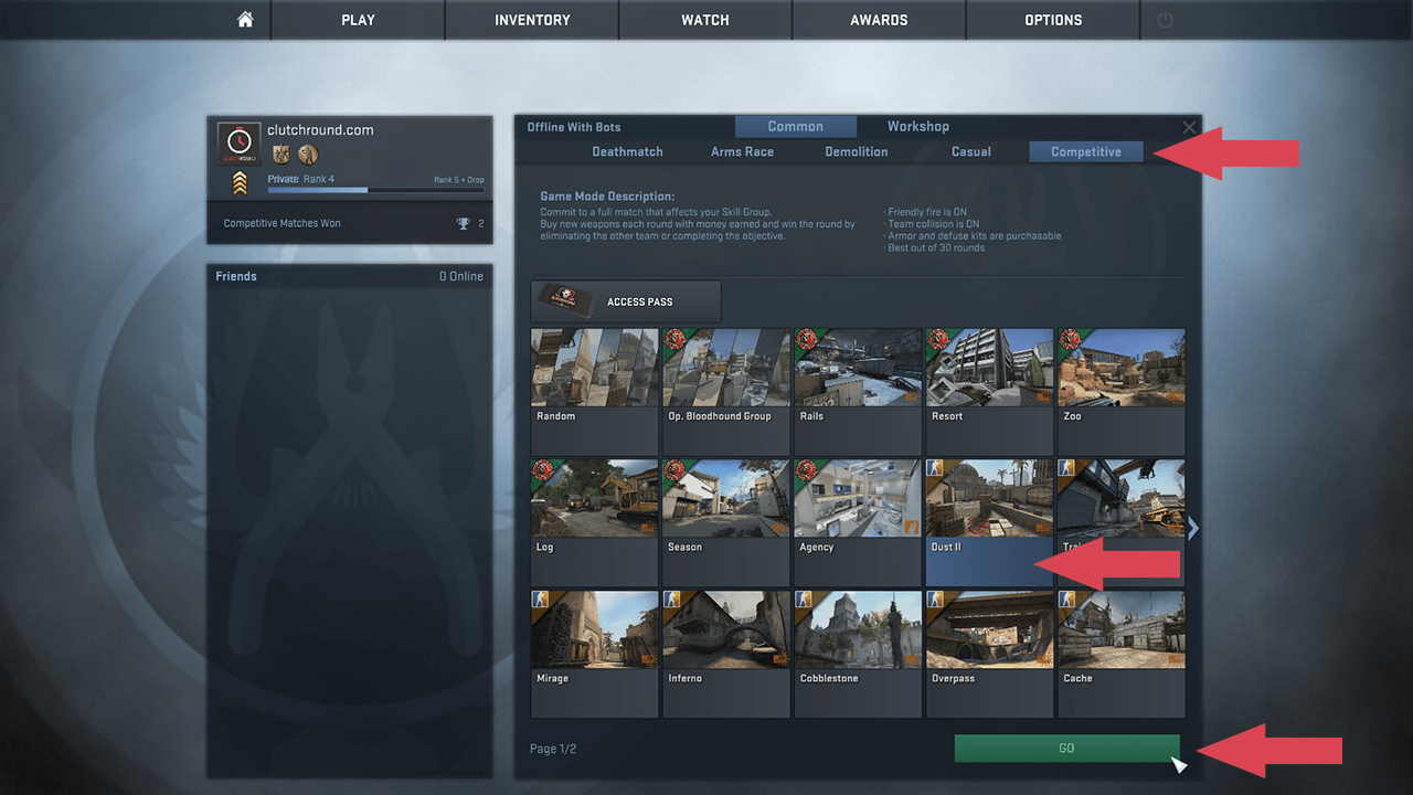 cs go matchmaking config download
